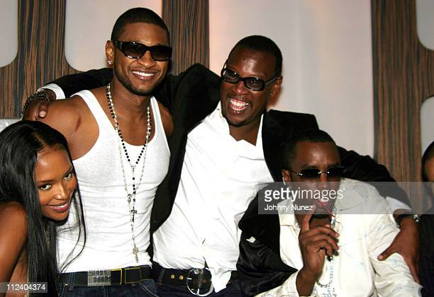 Naomi Campbell Usher Andre Harrell and Sean 'P Diddy' Combs