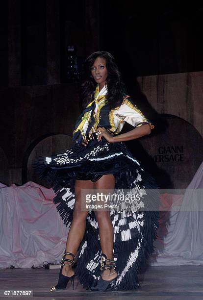 Naomi Campbell walk the runway at the Rock N' Rule Benefit Gala for AmFar hosted by Versace circa 1992 in New York City