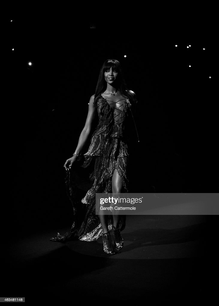 Naomi Campbell walks the runway at her Fashion For Relief Charity Fashion Show during Mercedes-Benz Fashion Week Fall 2015 at The Theatre at Lincoln Center on February 14, 2015 in New York City.