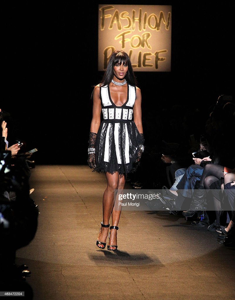 Naomi Campbell walks the runway at Naomi Campbell's Fashion For Relief Charity Fashion Show during Mercedes-Benz Fashion Week Fall 2015 at The Theatre at Lincoln Center on February 14, 2015 in New York City.