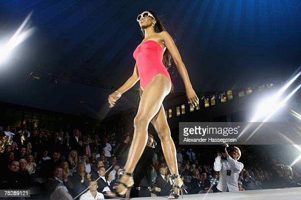Naomi Campbell walks the runway at the GQ fashion show during the GQ style night at the Wappenhalle July 9, 2007 in Munich, Germany.