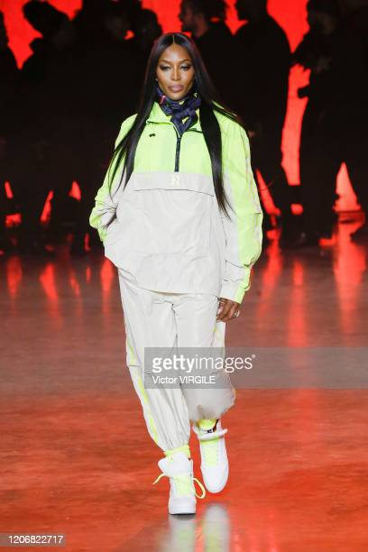 Naomi Campbell walks the runway at the Tommy Hilfiger Ready to Wear Spring/Summer 2020 fashion show during London Fashion Week on February 16 2020 in...