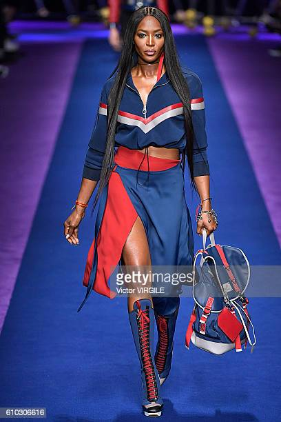 Naomi Campbell walks the runway at the Versace Ready to Wear show during Milan Fashion Week Spring/Summer 2017 on September 23 2016 in Milan Italy