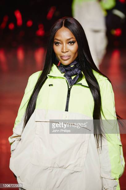 Naomi Campbell walks the runway at TOMMYNOW London Spring 2020 at Tate Modern on February 16 2020 in London England