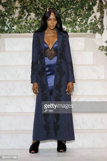 Naomi Campbell walks the runway during La Perla Fall/Winter 2017 RTW Show at SIR Stage 37 on February 9 2017 in New York City
