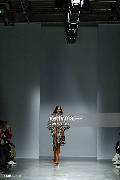 Naomi Campbell walks the runway during the Kenneth Ize Ready to Wear fashion show as part of the Paris Fashion Week Womenswear Fall/Winter 2020/2021...