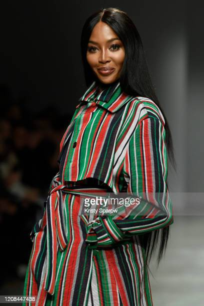 Naomi Campbell walks the runway during the Kenneth Ize show as part of the Paris Fashion Week Womenswear Fall/Winter 2020/2021 on February 24 2020 in...