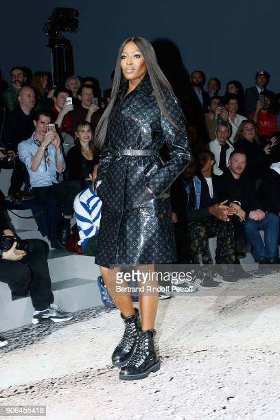 Naomi Campbell walks the runway during the Louis Vuitton Menswear Fall/Winter 20182019 show as part of Paris Fashion Week on January 18 2018 in Paris...