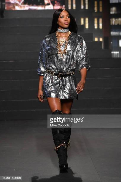 Naomi Campbell walks the runway during the Moschino x HM Runway at Pier 36 on October 24 2018 in New York City