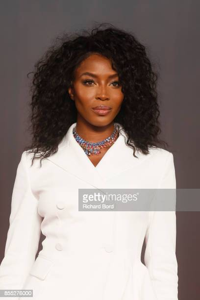 Naomi Campbell walks the runway during the Off/White show as part of Paris Fashion Week Womenswear Spring/Summer 2018 on September 28, 2017 in Paris,...