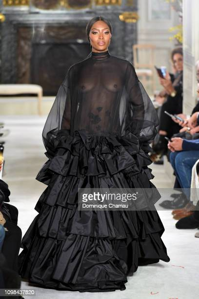 Naomi Campbell walks the runway during the Valentino Haute Couture Spring Summer 2019 show as part of Paris Fashion Week on January 23 2019 in Paris...
