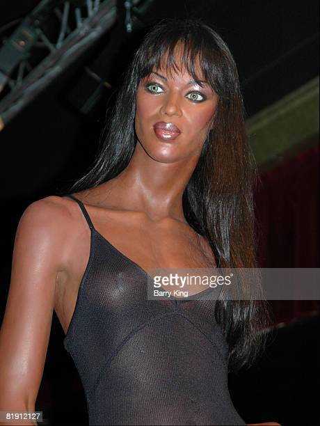 Naomi Campbell wax figure at the Musee Grevin in Paris France