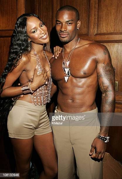 Naomi Campbell wearing Original Design by Chris Aire. The Divine Halter is valued at more than $10 million. Tyson Beckford is wearing Chris Aire...