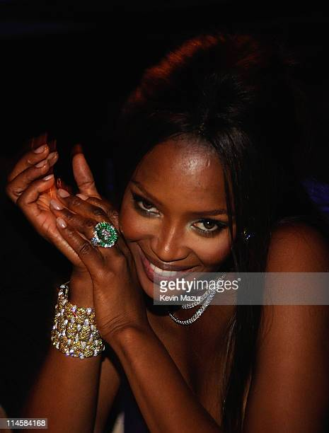 Naomi Campbell who wore a High Jewellery diamond necklace in her hair during the 10th Annual White Tie and Tiara Ball to Benefit the Elton John Aids...