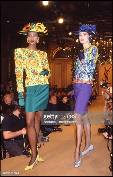Naomi Campbell Yves Saint Laurent 1988 Spring/Summer ReadyToWear Fashion Show