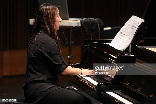 Naomi Causby of Axiom performing John Adams's Son of Chamber Symphony at Peter Jay Sharp Theater at the Juilliard School on Friday night October 17...