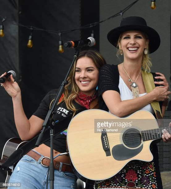Naomi Cooke and Jennifer Wayne of Runaway June perform Day 2 Country Thunder Music Festival Arizona on April 7 2017 in Florence Arizona