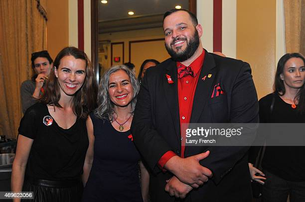 Naomi deLuce Wilding Laela Wilding and actor Daniel Franzese attend the Positive Leadership Award reception at the Rayburn House Office Building on...