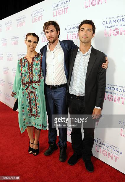 Naomi deLuce Wilding Tarquin Wilding and Caleb Wilding attend Glamorama Fashion in a New Light benefiting AIDS Project Los Angeles presented by...
