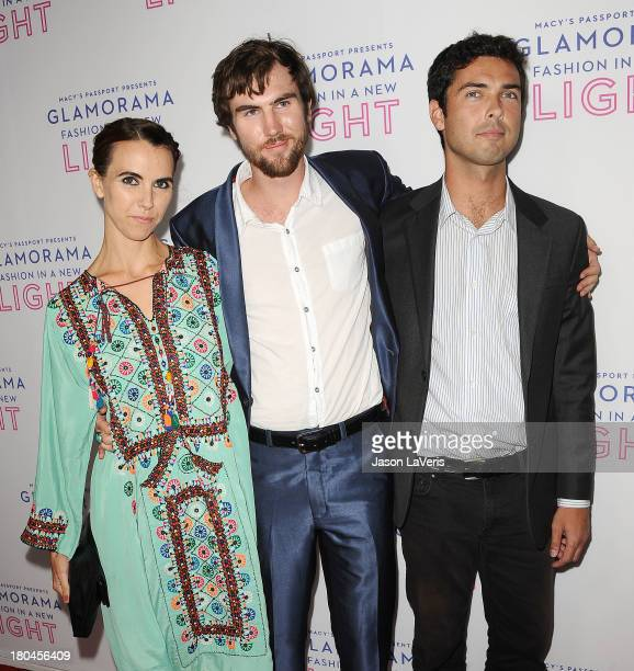 Naomi DeLuce Wilding Tarquin Wilding and Caleb Wilding attend Macy's Passport presents Glamorama at Orpheum Theatre on September 12 2013 in Los...
