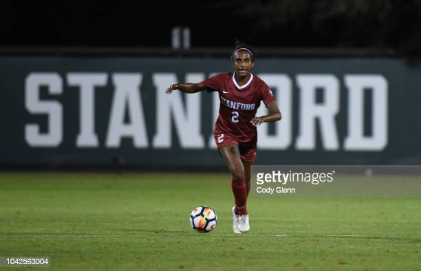 Naomi Girma of Stanford University in action against University of Arizona at Laird Q Cagan Stadium on September 21 2018 in Stanford California