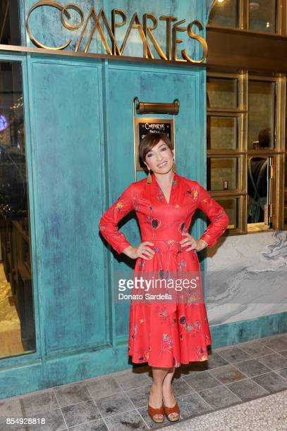 Naomi Grossman celebrates the Compartes Chocolatier Century City Flagship Store Opening on September 27 2017 in Los Angeles California