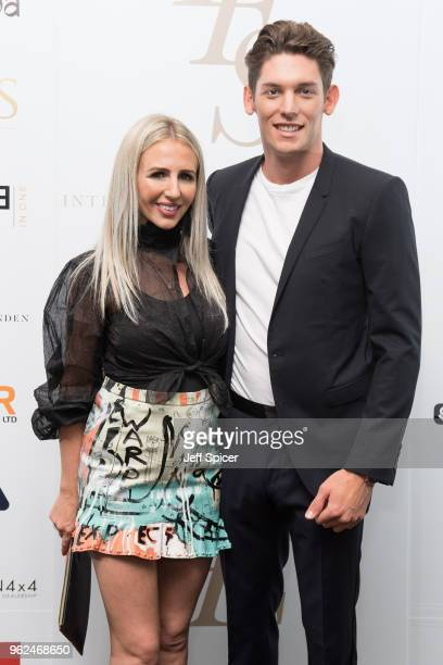 Naomi Isted and Wes Myron attend the inaugural International Fashion Show at Rosewood Hotel on May 25 2018 in London England