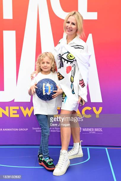 """Naomi Isted attends a special screening of """"SPACE JAM: A NEW LEGACY"""" in cinemas 16th July at Cineworld Leicester Square on July 11, 2021 in London,..."""