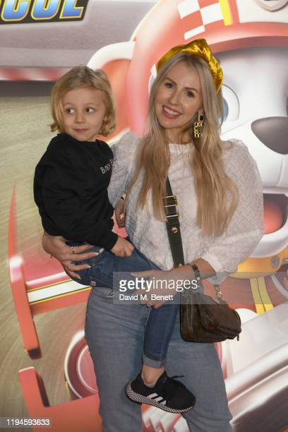 """Naomi Isted attends the gala screening of """"Paw Patrol"""" at Cineworld Leicester Square on January 19, 2020 in London, England."""