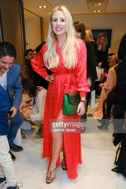 Naomi Isted attends the Kolchagov Barba show during London Fashion Week February 2020 at Melia White House Hotel on February 16 2020 in London England