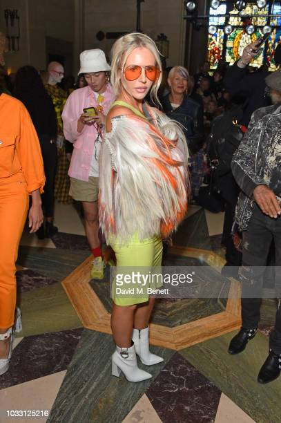 Naomi Isted attends the Pam Hogg front row during London Fashion Week September 2018 at The Freemason's Hall on September 14 2018 in London England