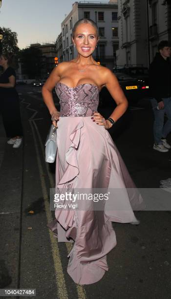 Naomi Isted seen attending National Reality TV Awards at Porchester Hall on September 25 2018 in London England