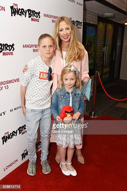 Naomi Isted with her children attend the UK gala screening of Angry Birds at Picturehouse Central on May 7 2016 in London England