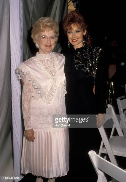 Naomi Judd and Mother Holly Rideout during 25th Annual Academy of Country Music Awards at Pantages Theater in Hollywood California United States