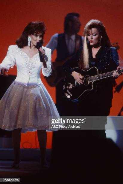 Naomi Judd Wynonna Judd The Judds performing on the 17th Annual American Music Awards Shrine Auditorium January 22 1990