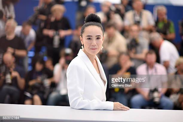 Naomi Kawase attends the Jury De La Cinefondation Des Courts Metrages Photocall during the 69th annual Cannes Film Festival at the Palais des...