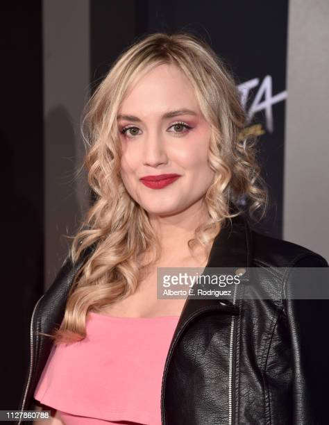 Naomi Kyle attends the premiere of 20th Century Fox's 'Alita Battle Angel' at Westwood Regency Theater on February 05 2019 in Los Angeles California