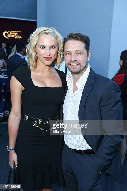 Naomi LowdePriestley and actor Jason Priestly attend the 16th Annual DesignCare to Benefit The HollyRod Foundation at The Lot Studios on July 19 2014...