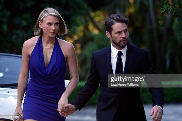 Naomi LowdePriestley and Jason Priestley arrive at the the FX channel launch at Swifts Darling Point on February 22 2012 in Sydney Australia