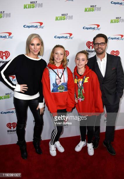 Naomi LowdePriestley Ava Veronica Priestley guest and Jason Priestley attend 1027 KIIS FM's Jingle Ball 2019 Presented by Capital One at the Forum on...