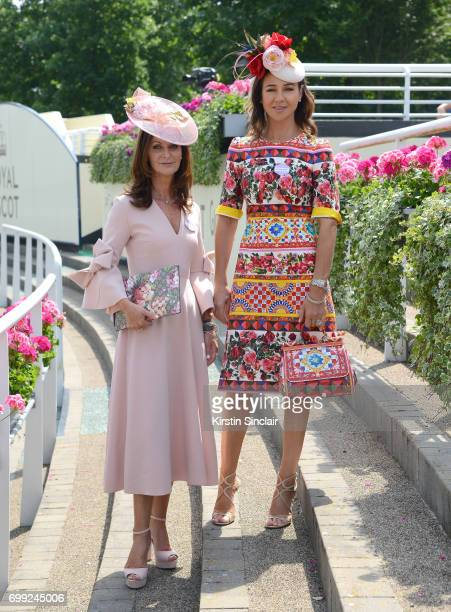 Naomi Maguire and Kay O'Connor attend day 2 of Royal Ascot at Ascot Racecourse on June 21 2017 in Ascot England