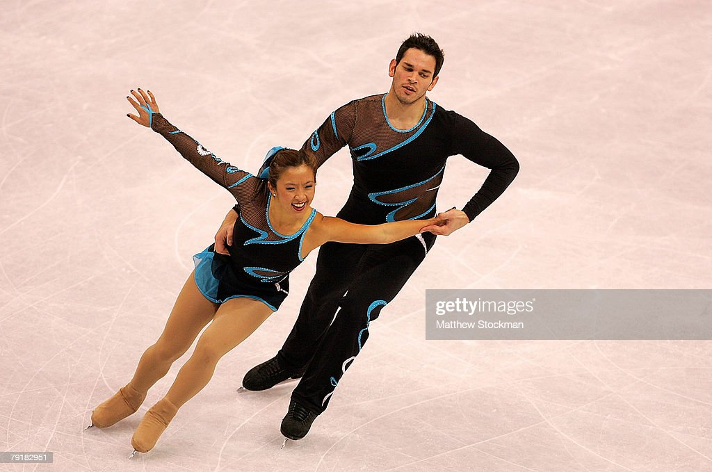 Naomi Nari Nam and Themistocles Lefteris compete in the pairs short program during the US Figure Skating Championships January 23, 2008 at the Xcel Energy Center in St Paul, Minnesota.