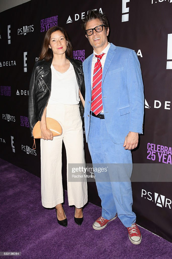 Naomi Nelson (L) and actor Johnny Knoxville attend the pARTy! - celebrating 25 years of P.S. ARTS on May 20, 2016 in Los Angeles, California.