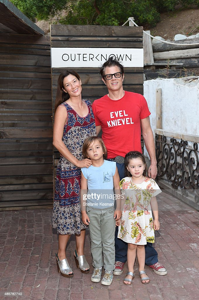 Naomi Nelson, Johnny Knoxville and children attend Kelly Slater, John Moore and Friends Celebrate the Launch of Outerknown at Private Residence on August 29, 2015 in Malibu, California.