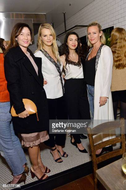 Naomi Nelson Kelly Sawyer Shiva Rose and Ali Taekman attend Jenni Kayne Fall 2017 Collection Launch Dinner at Gjelina on February 8 2017 in Venice...