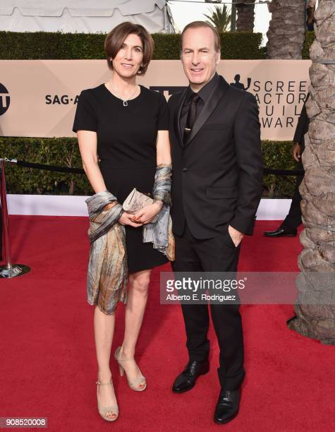 Naomi Odenkirk and actor Bob Odenkirk attend the 24th Annual Screen Actors Guild Awards at The Shrine Auditorium on January 21, 2018 in Los Angeles,...