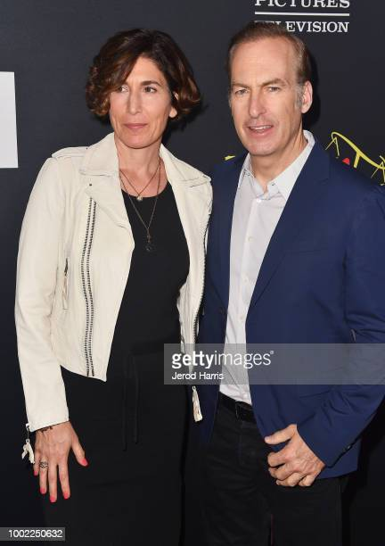 Naomi Odenkirk and Bob Odenkirk attend AMC's 'Better Call Saul' Premiere during Comic Con 2018 at UA Horton Plaza on July 19 2018 in San Diego...