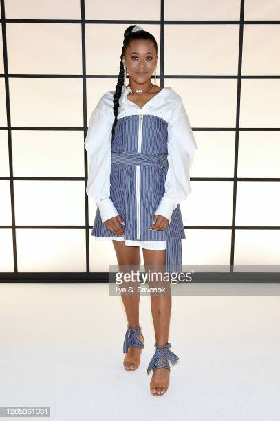 Naomi Osaka attends the ADEAM Fall | Winter 2020 SHOW at the High Line Hotel on February 10 2020 in New York City