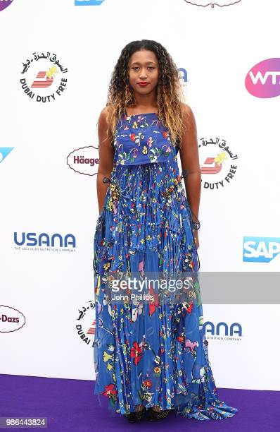 Naomi Osaka attends the Women's Tennis Association Tennis on The Thames evening reception at OXO2 on June 28, 2018 in London, England. The event was...