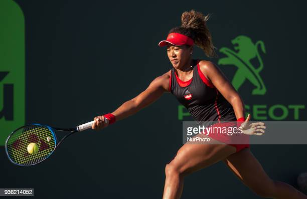 Naomi Osaka from Japan Indian Wells Champion playing agains Serena Williams at the Center Court of the Miami Open in Miami on March 21 2018